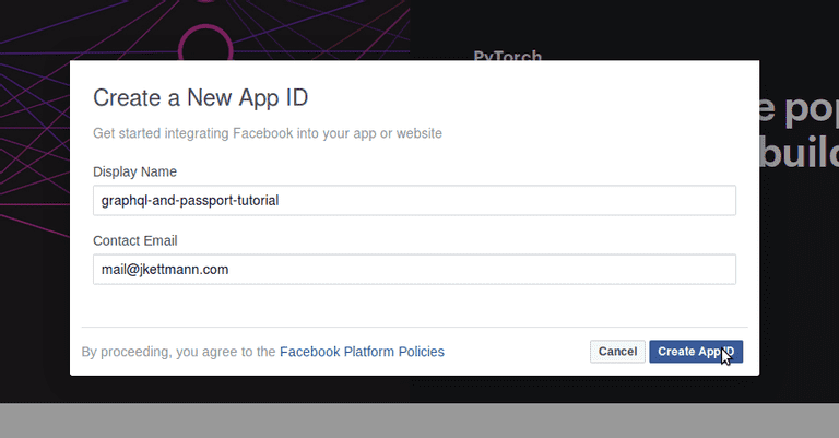 2-facebook-login-with-passport-and-graphql-add-app